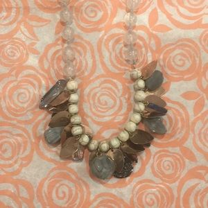 Anthropologie statement glass bead necklace.